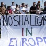 No Shalegas in Europe - Demo vor dem europäischen Parlament - Plakat