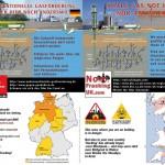 Mehrsprachige Flyer der europäischen Initiativen gegen Fracking - Deutschland und Großbritannien