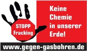 Logo - Stopp Fracking - Keine Chemie in unsere Erde - www.gegen-gasbohren.de
