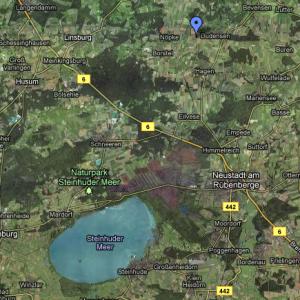 Karte der vorbereiteten Probebohrung Schiefergasbohrung Nöpke Z2