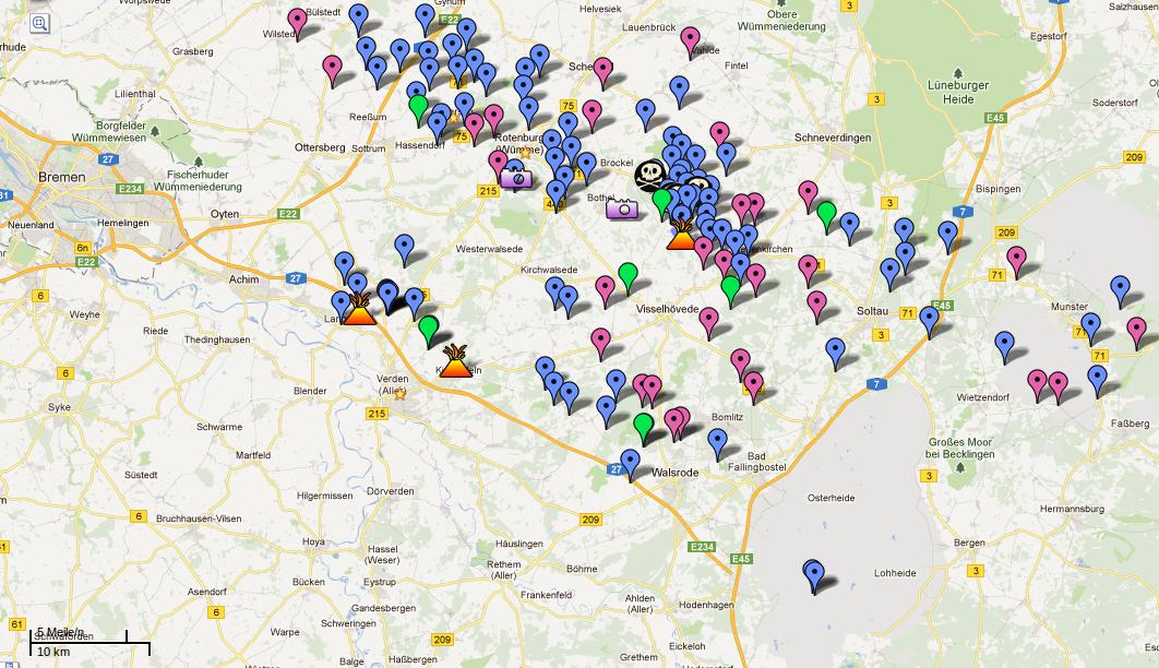 Gasfoerderung in Rotenburg - Bohrungen bereits jetzt in geringen Abständen