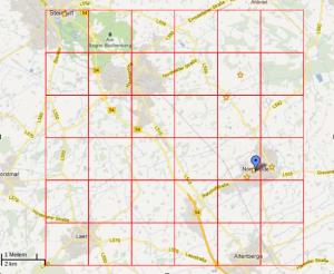 Potentieller Bohrplatzplan Altenberge, Nordwalde, Steinfurt, Emsdetten, Laer