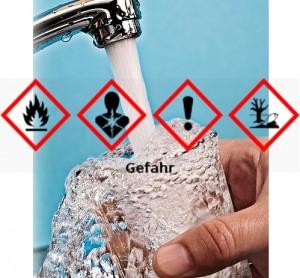 Methylcyclohexan kontaminierte in West Virginia das Trinkwasser von 300.000. Gefahrstoffzeichen n.CLP