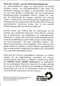 Grünen-Flugblatt - Vorderseite Hannover, 22.03.2014