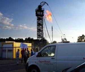 vor dem Betriebsplatz Söhlingen Z14, ExxonMobil