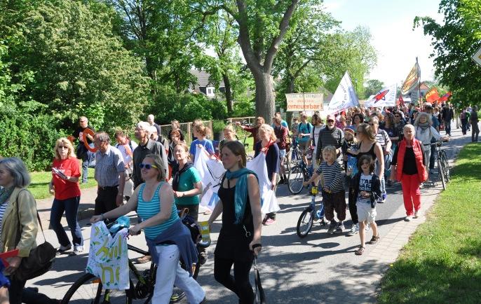 Demonstration gegen Fracking in Saal, Vorpommern