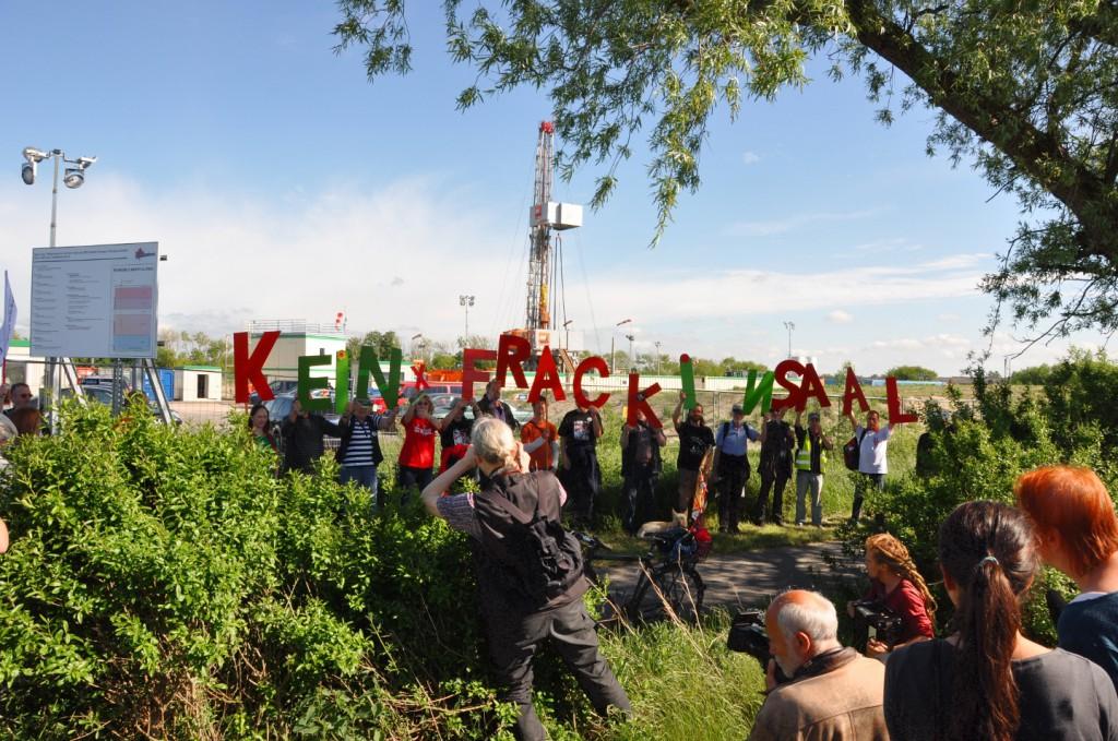 """""""Fracking in Saal und anderswo findet nicht unsere Zustimmung!"""""""