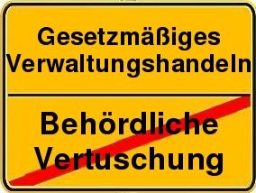 Vorgeschriebene Fahrtrichtung der Behörden: Das Gesetz achten!