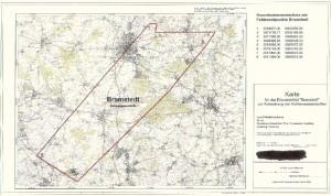 Offizielle Feldeskarte Bramstedt aus dem Erlaubnisantrag.