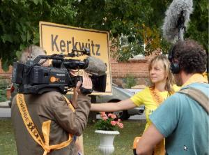 Möchte nicht abgebaggert werden: Einwohnerin von Kerkwitz