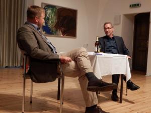 Frank Steffen, BM Beeskow (li.) und Matthias Platzeck, langjähriger MP von Brandenburg