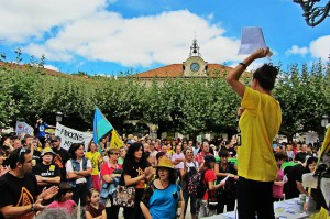 Anti-Fracking-Demonstration in Burgos am 30.08.2014