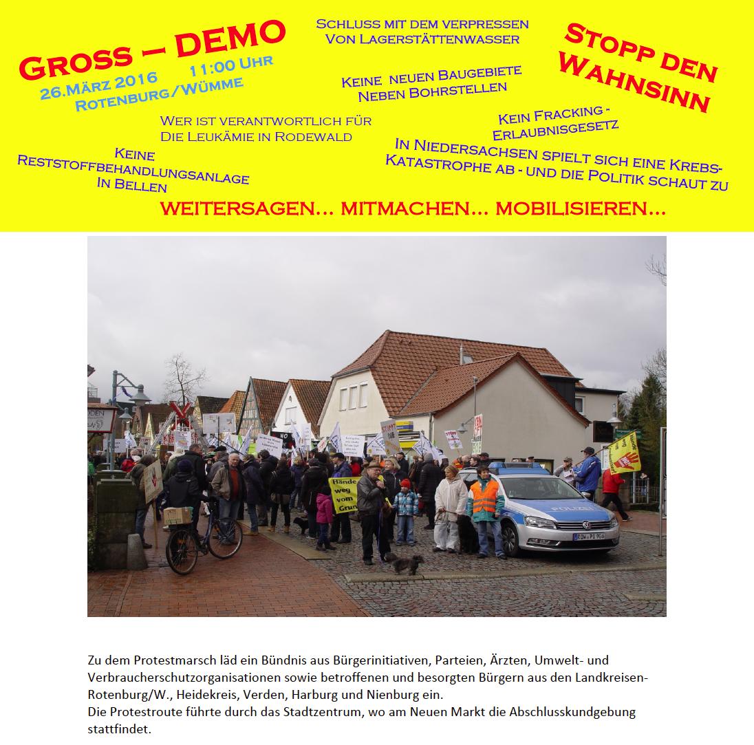 Demonstration 26.3.2016